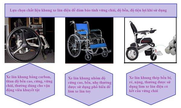 Lựa chọn chất liệu khung xe lăn