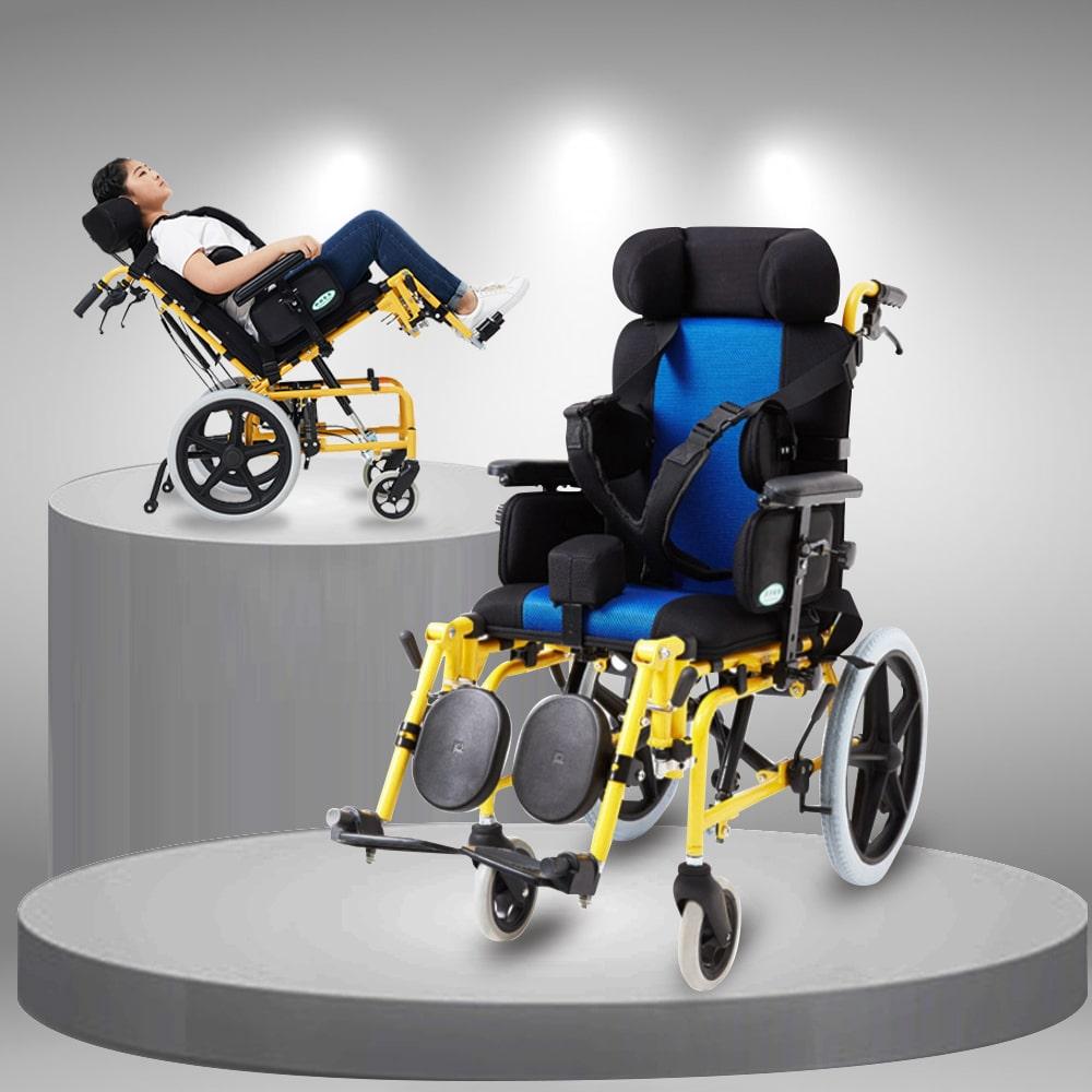 Xe lăn gấp đa chức năng dành cho trẻ em khuyết tật nhập khẩu TM090