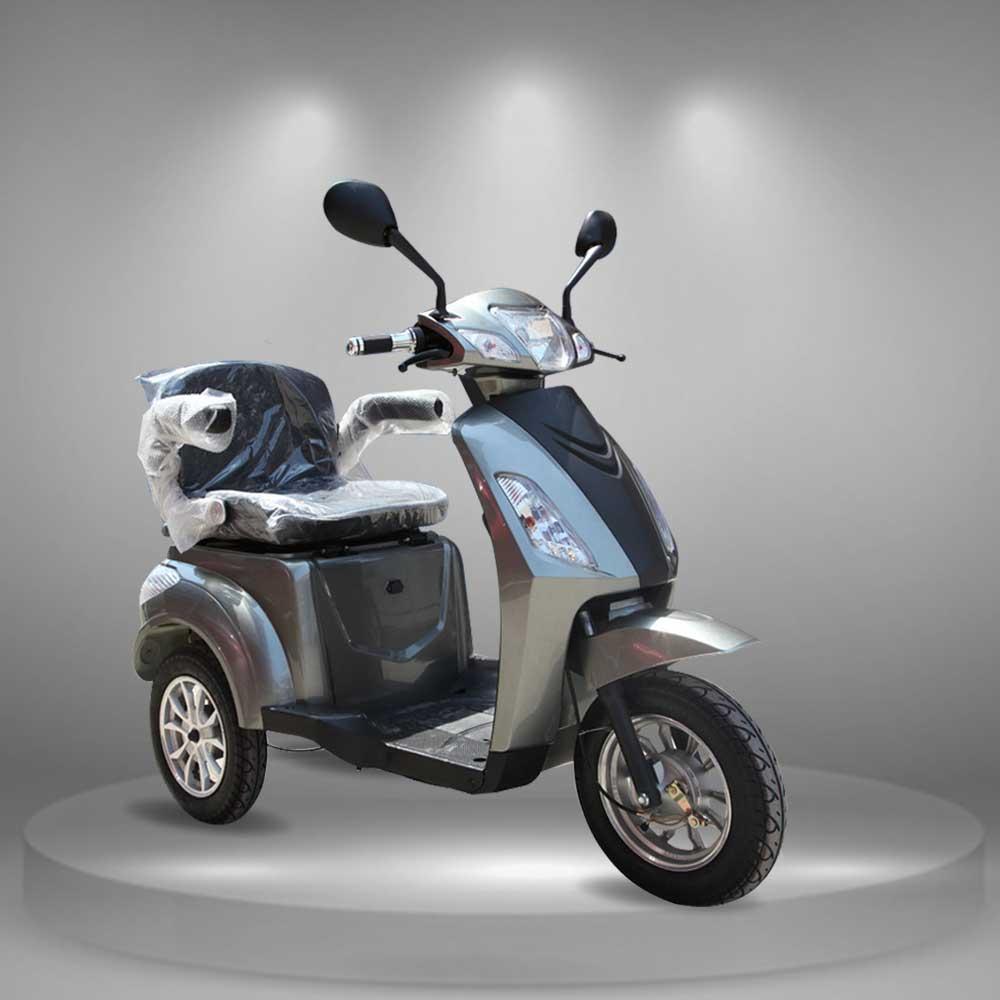 Xe máy điện 3 bánh thời thượng màu ghi TM027