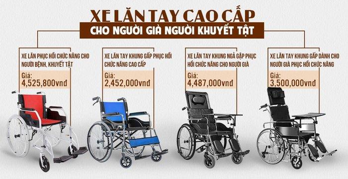 Bảng giá xe lăn tay cao cấp tại Xe điện Việt Pháp