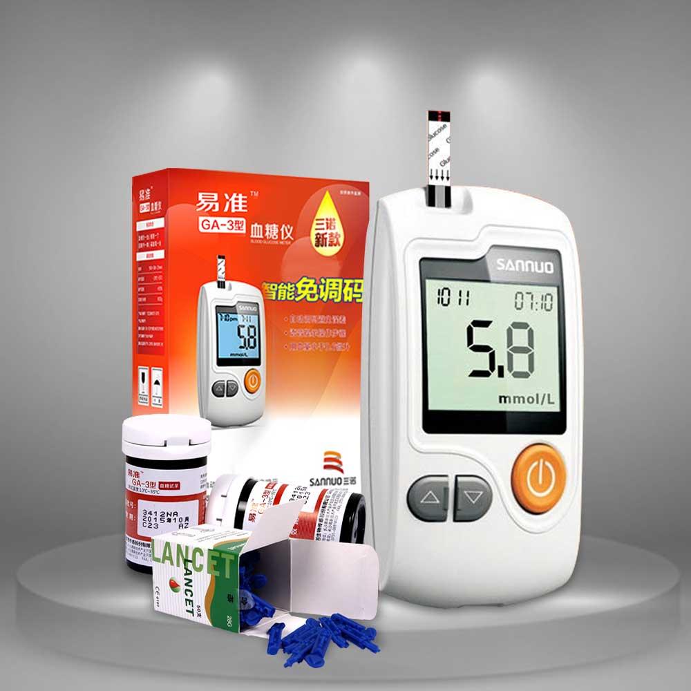 Bộ sản phẩm Máy đo đường huyết thông minh SANNU TM001