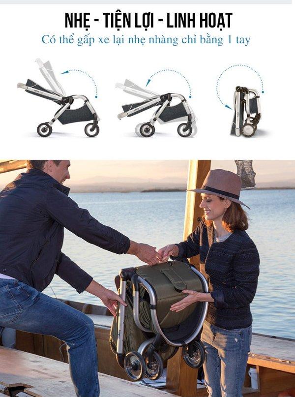 Chọn xe đẩy du lịch cho em bé có thể gấp gọn để di chuyển