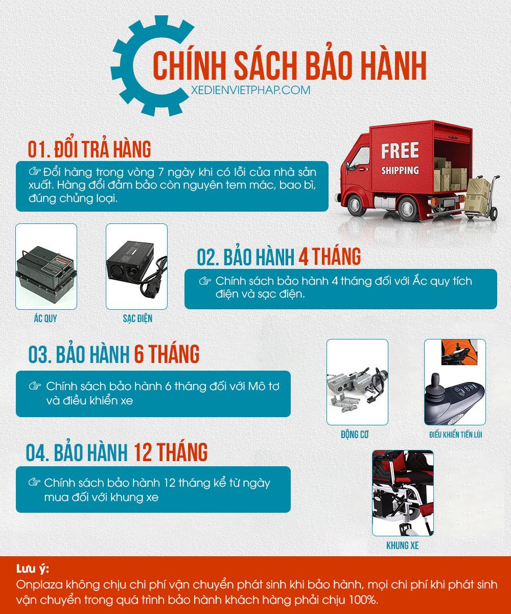 Chính sách bảo hành của xe lăn điện Việt pháp