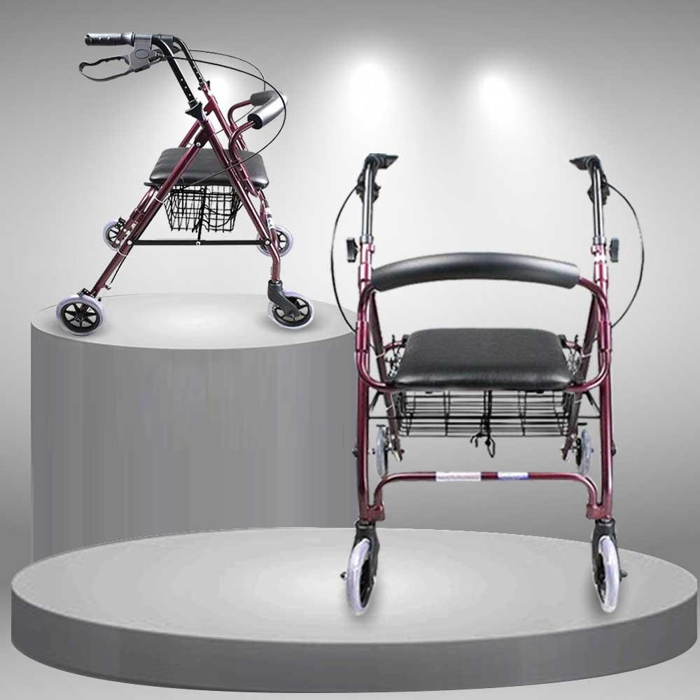 Khung tập đi có bánh xe loại cao cấp cho người khuyết tật TM040