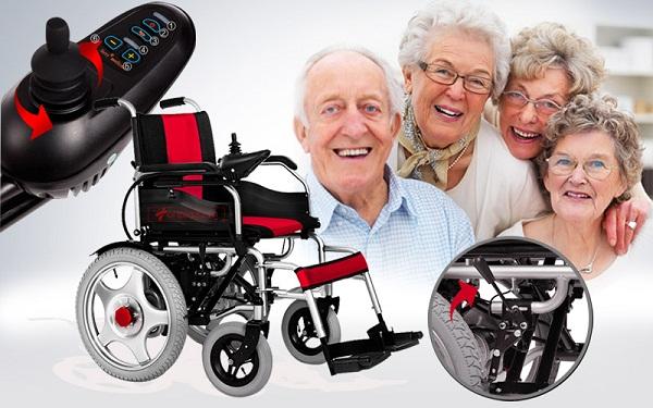 xe lăn điện giá rẻ nào phù hợp với người già
