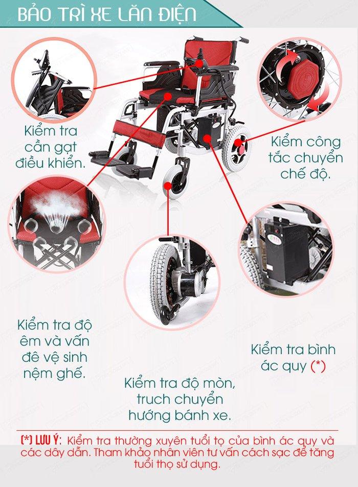 Quy trình bảo trì xe lăn điện