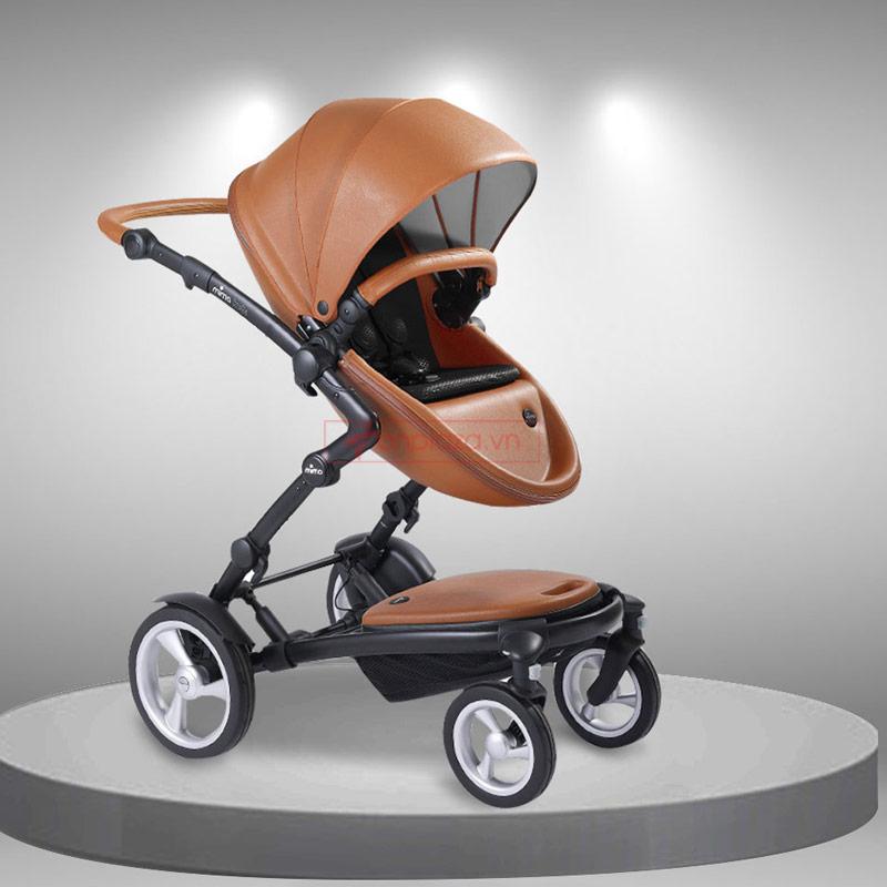 Xe đẩy đa năng cho bé có thể tháo rời và lắp thêm ghế dùng được cho hai bé Mima Kobi XĐ005