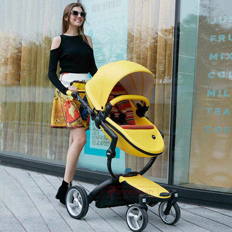 Xe đẩy đa năng cho bé ngắm cảnh tầm cao phong cách hoàng tộc Mima Xari XĐ004 (Phiên bản màu vàng giới hạn)