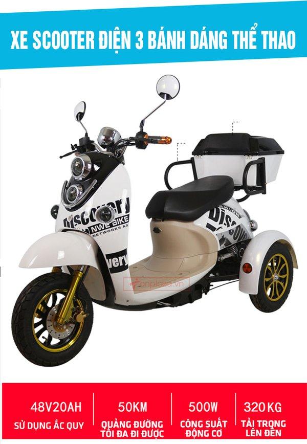 Xe điện 3 bánh thể thao thích hợp cho người khuyết tật
