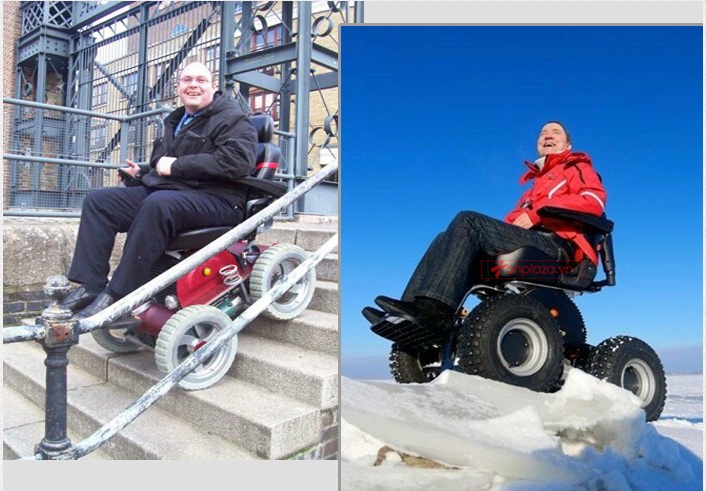 Xe lăn điện 4 bánh cao cấp giúp bạn vượt mọi địa hình