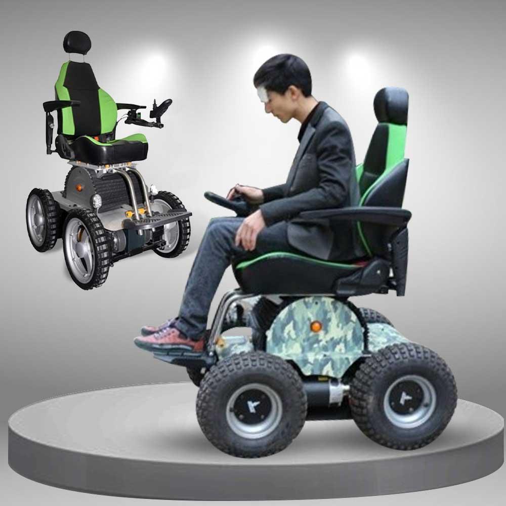 Xe lăn điện cao cấp 4 bánh điều khiển bằng tay cho người già TM010