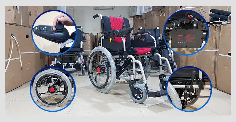 Xe lăn điện cao cấp dành cho người khuyết tật TM005 5
