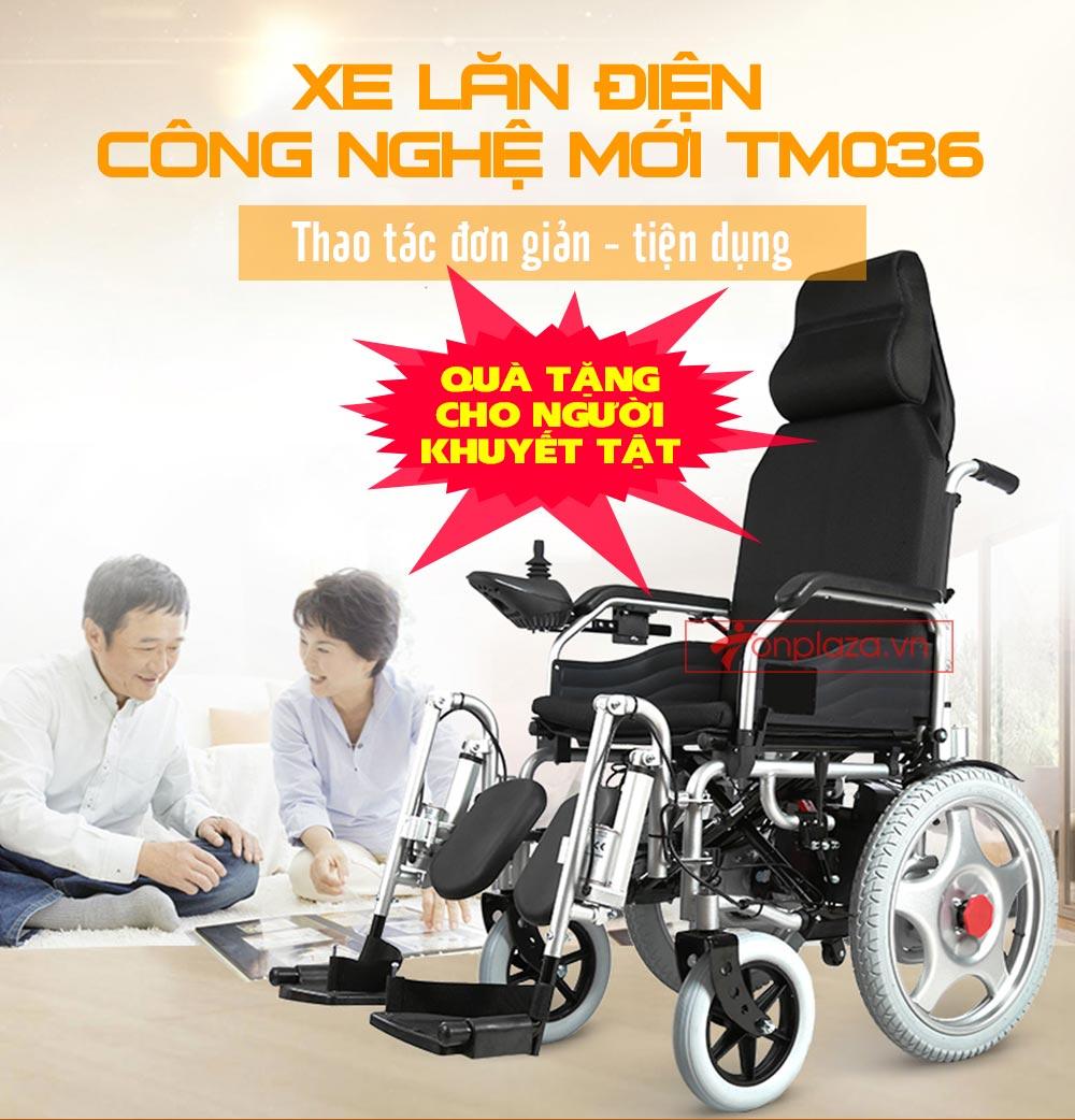 xe lăn điện công nghệ mới tự động ngả nằm