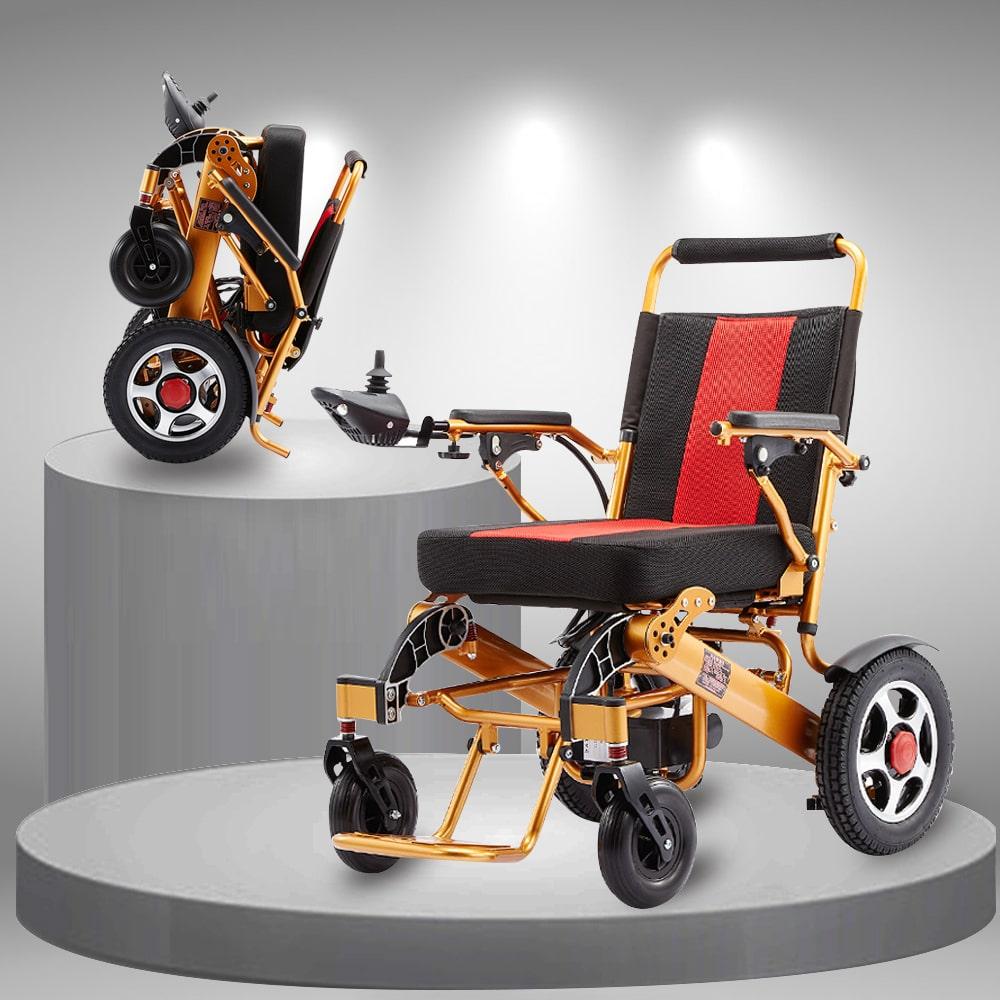 Xe lăn điện gấp tiện dụng kĩ thuật cao dành cho người già, người khuyết tật TM094