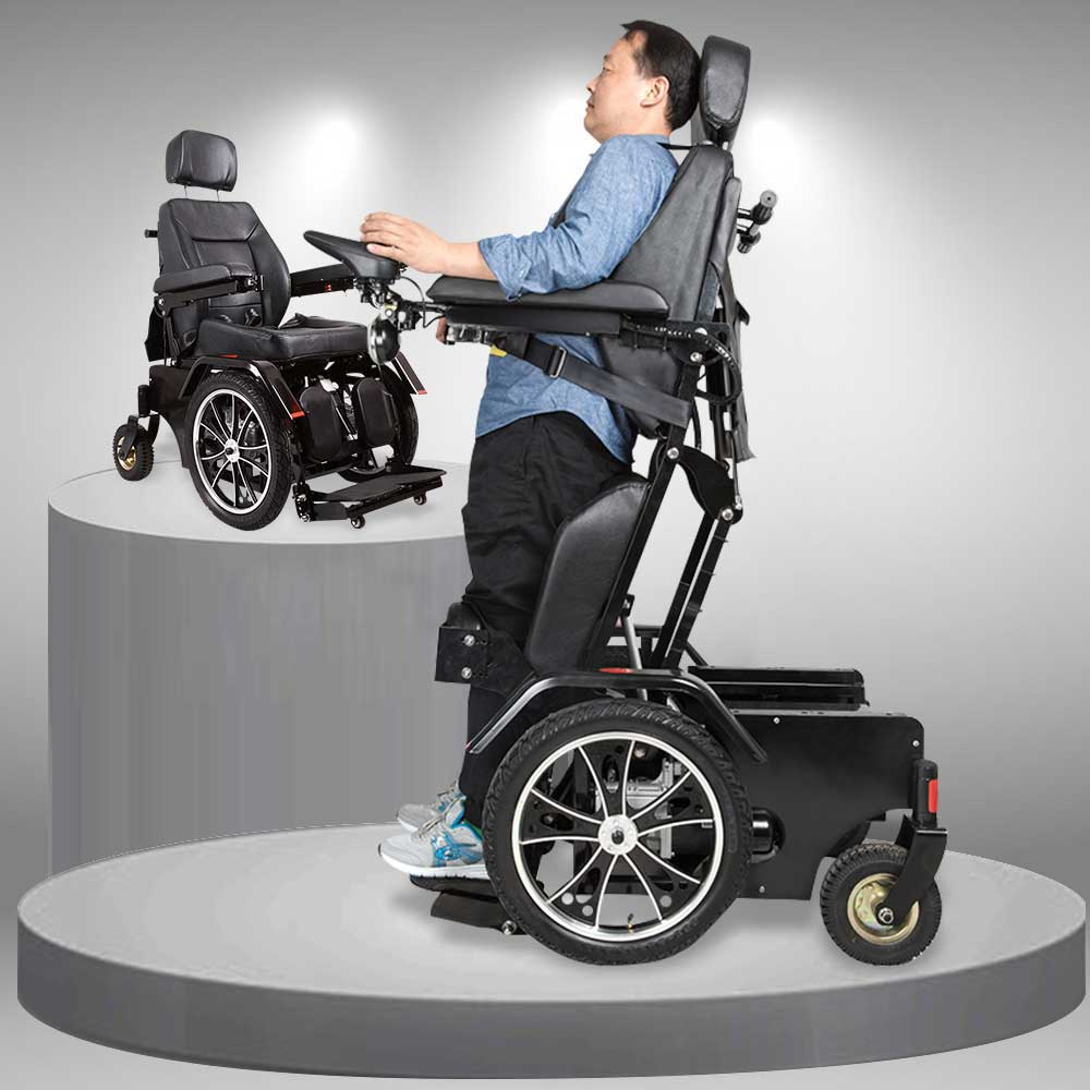 Xe lăn điện ngả gập phục hồi chức năng cho người khuyết tật TM012
