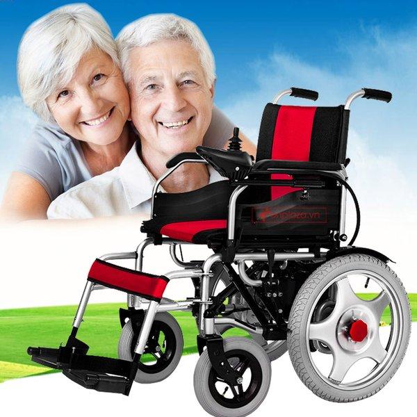 Xe lăn điện ngả gập thân thiện cho người dùng
