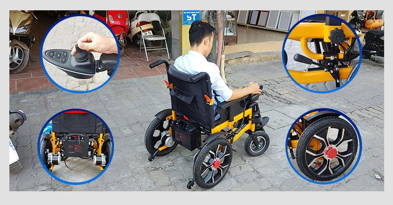 Xe lăn điện thông minh chống lật ngược TM057 5