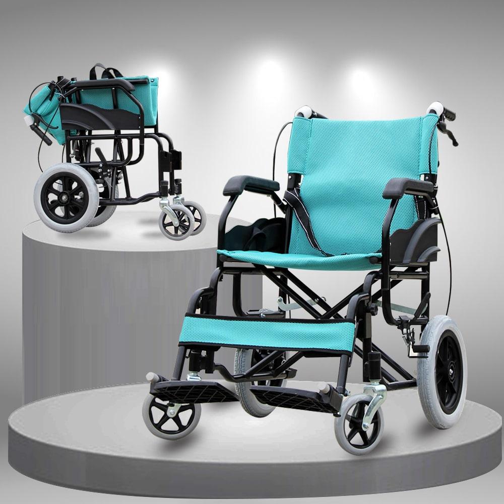 Xe lăn gấp siêu nhẹ tiện dụng dành cho người già người khuyết tật TM091