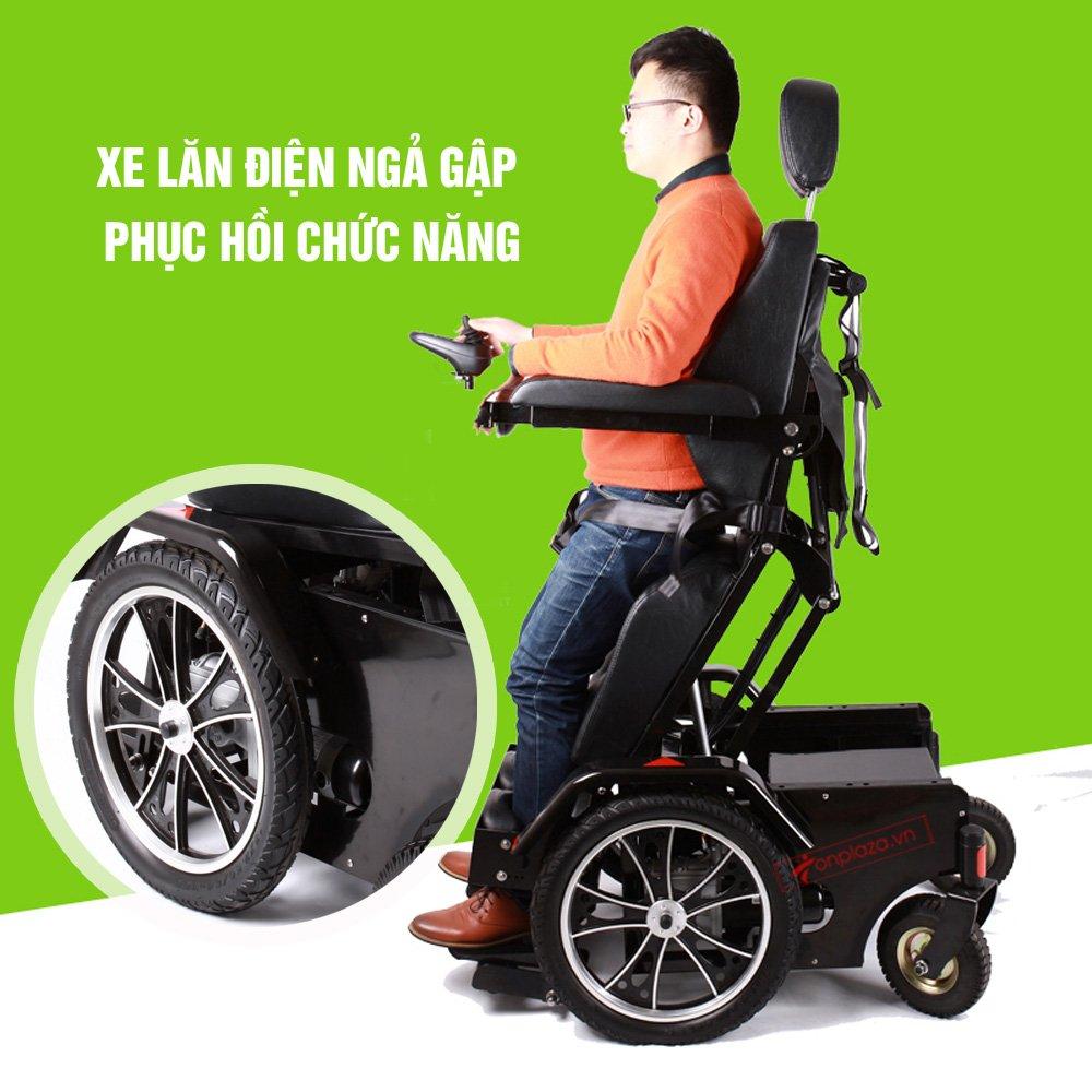 Xe lăn giúp người sử dụng di chuyển ở tư thế thẳng đứng