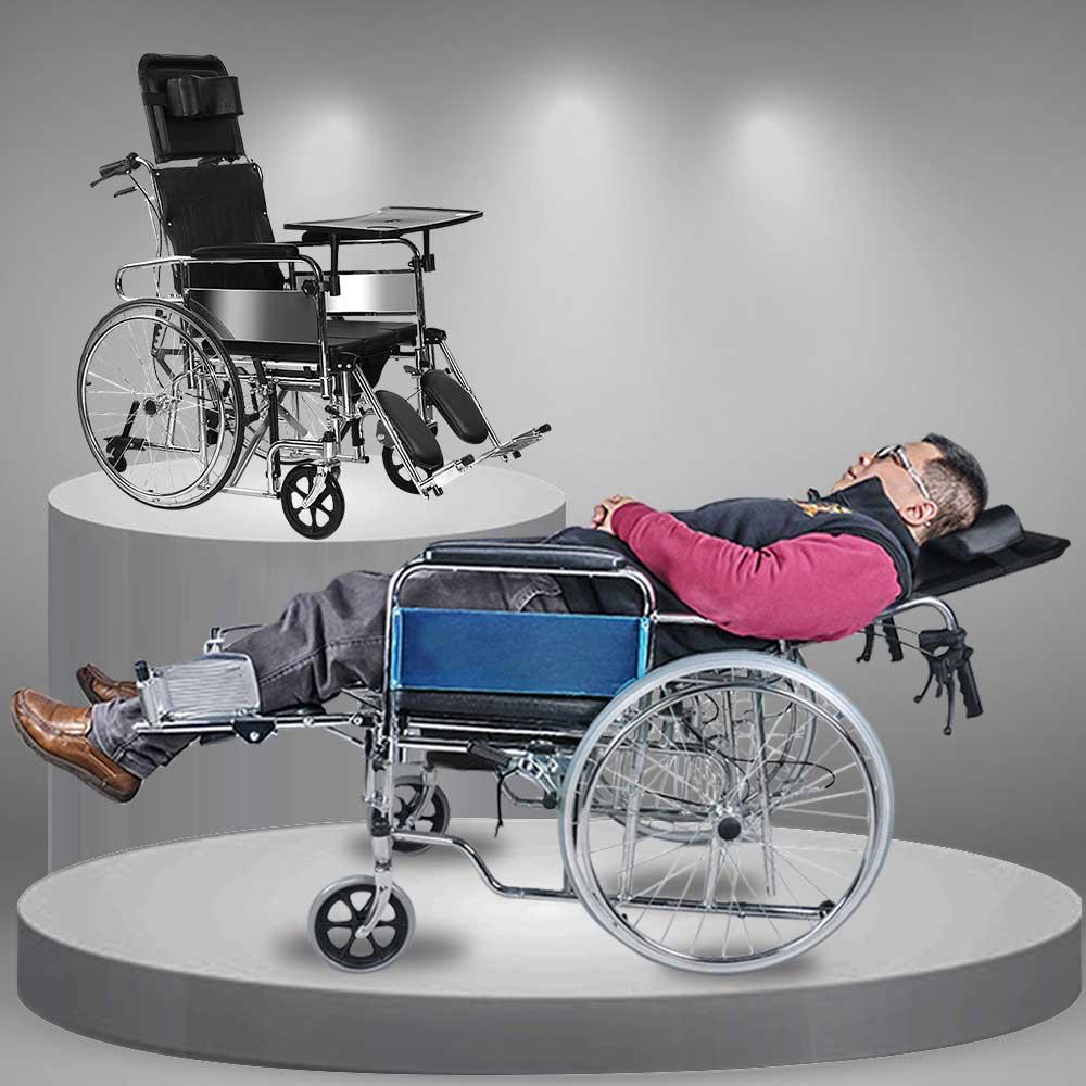 Xe lăn tay khung gấp dành cho người già phục hồi chức năng TM006