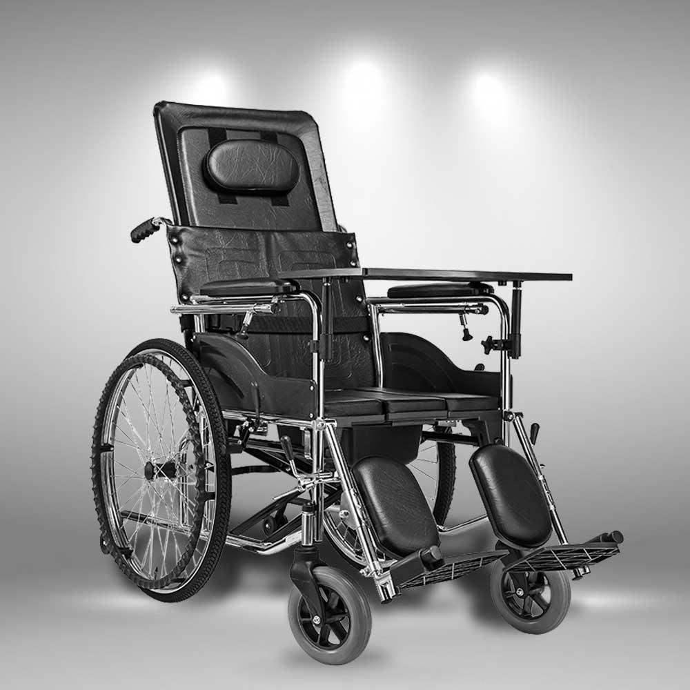 Xe lăn tay khung ngả gập phục hồi chức năng cho người già TM023