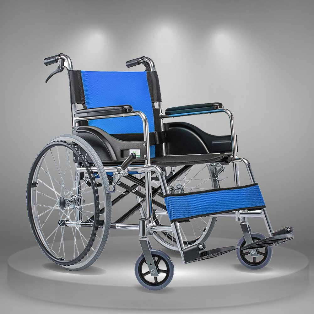 Xe lăn tay khung gấp phục hồi chức năng cao cấp cho người tàn tật TM022