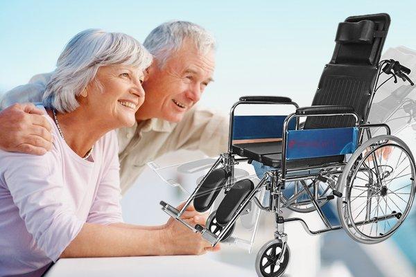 xe lăn tay ngả gập phục hồi chức năng
