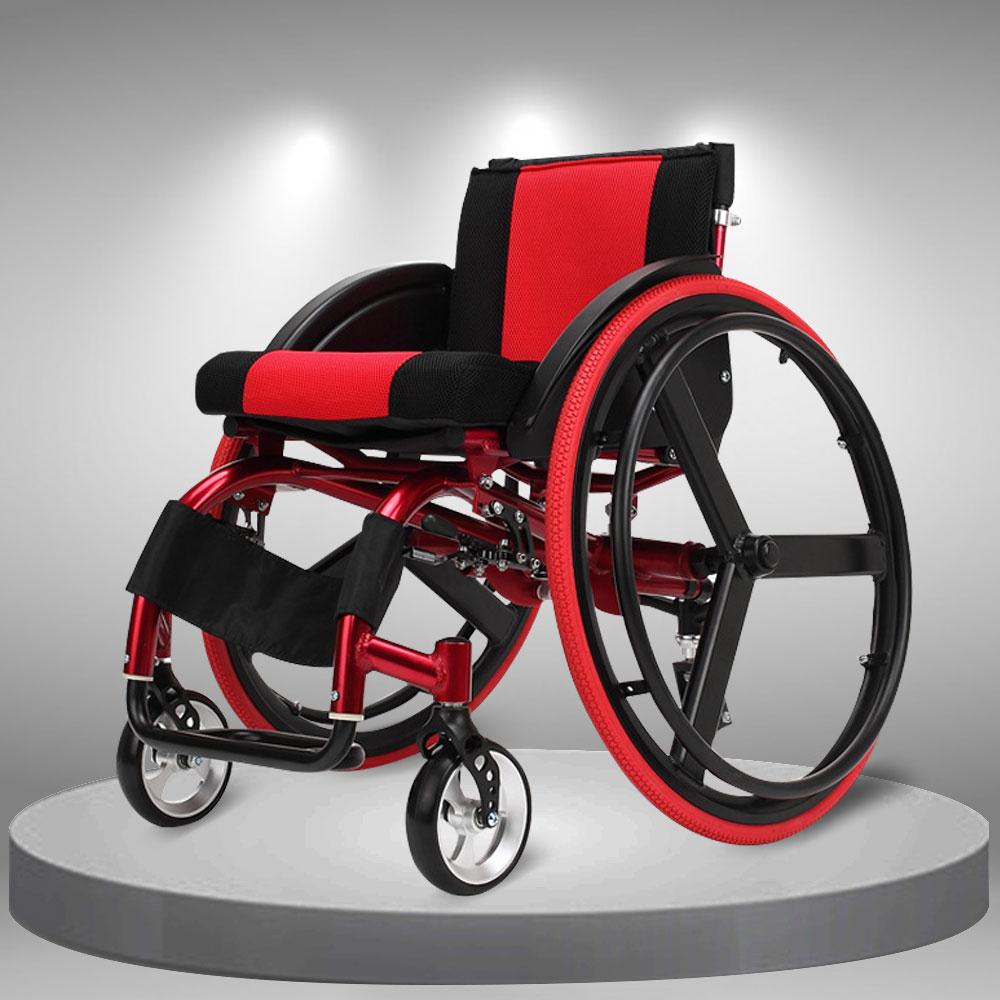 Xe lăn thể thao siêu nhẹ giảm rung lắc kiểu dáng thời trang, dễ gấp gọn TM060