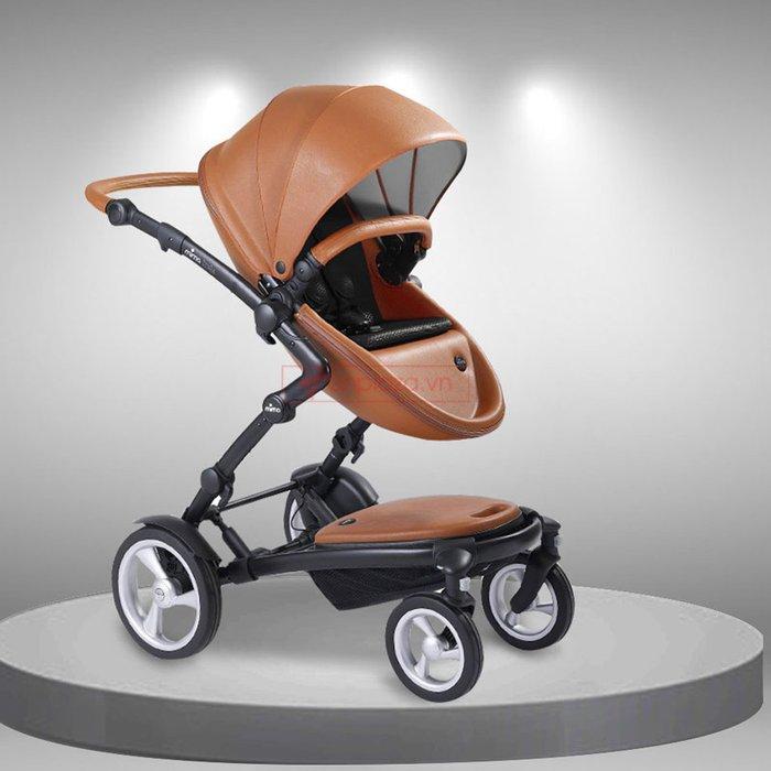 Xe nôi đa năng cho bé có thể tháo rời và lắp thêm ghế dùng được cho hai bé Mima