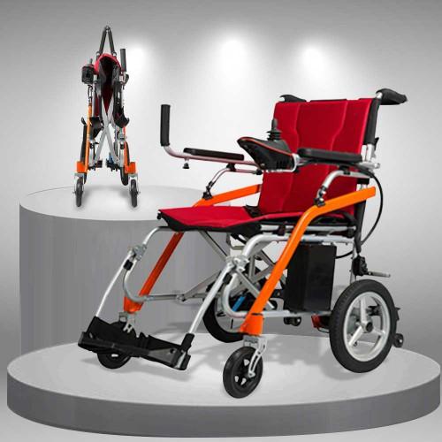 Xe lăn điện TM031 siêu nhẹ cao cấp, gấp gọn khi đi máy bay, ôTô